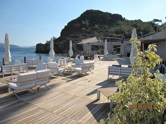 D Maris Bay: One of the beach bars