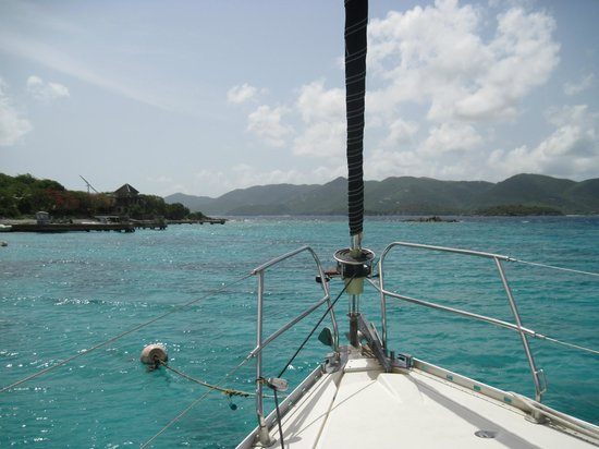 St. John Yacht Charters Survivan: View from the boat while in a snorkeling spot