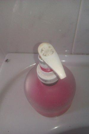 U Santu Petru : état du distributeur de savon
