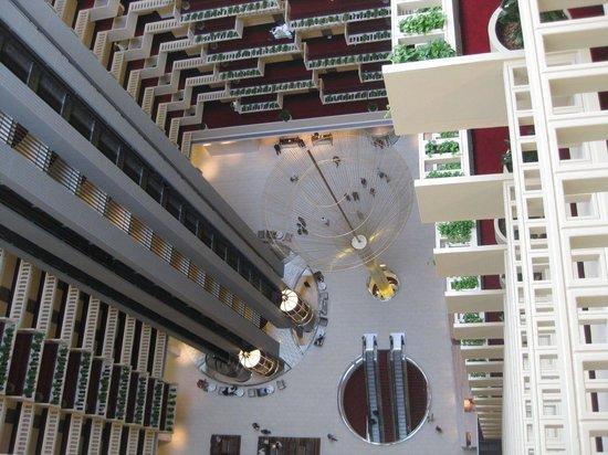 looking down from 22 floor - Picture of Hyatt Regency Atlanta ...