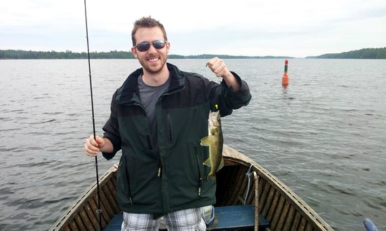 Chaudiere Lodge: Walleye caught on the french