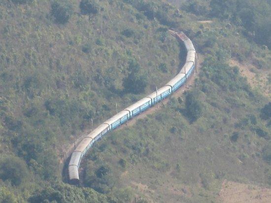 Araku Valley: Kirandul Passenger from a Highest view Point
