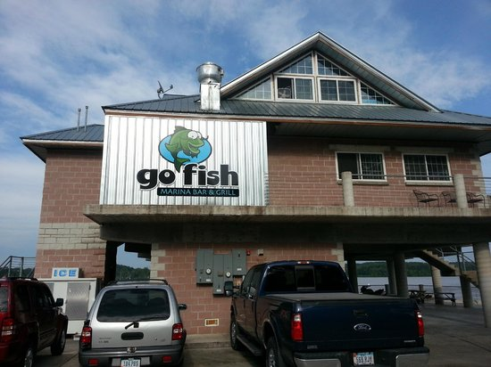 Burger picture of go fish bar grill princeton for Go fish restaurant