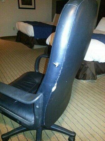 Nichols Village Hotel & Spa: torn desk chair