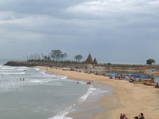 Hotel Santana Beach: view from terrace outside room 101