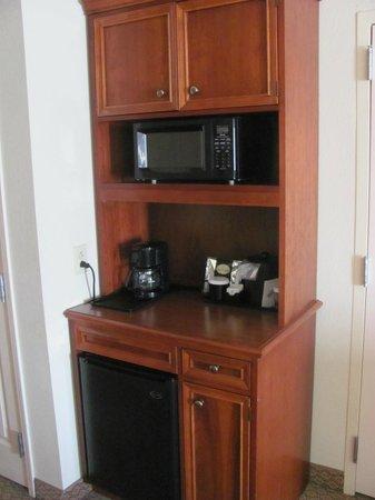 Hilton Garden Inn Cleveland Downtown: Microwave, refrigerator etc.