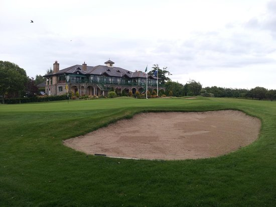 Malahide, Ireland: Clubhouse from 9th on Yellow nine.