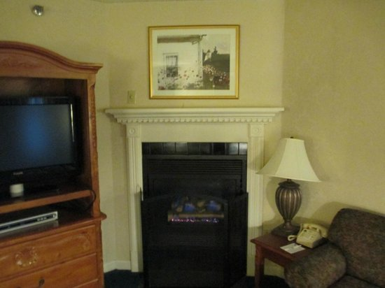 Best Western Merry Manor Inn: Tv and fireplace