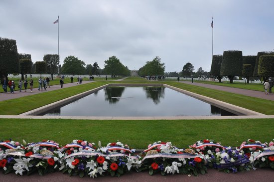 Military Might Day Tours: Normandy American Cemetery near Omaha Beach