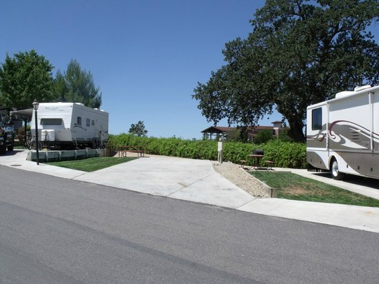 Wine Country RV Resort : Deluxe spaces