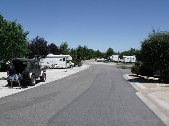 Wine Country RV Resort: inside roads