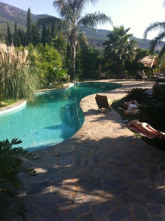 Casa de Laila | Glamping & Retreats: Us by the pool at the end of the day (it's normally sunny)