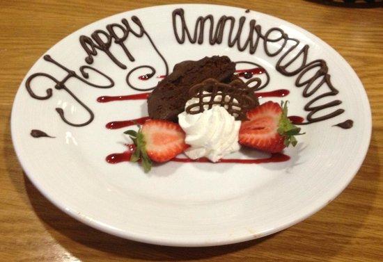 Dobyns Dining Room: Anniversary Dessert