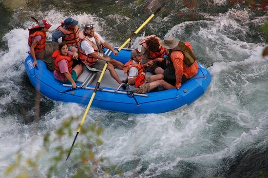 Orleans, Kaliforniya: White water rafting on the Klamath River