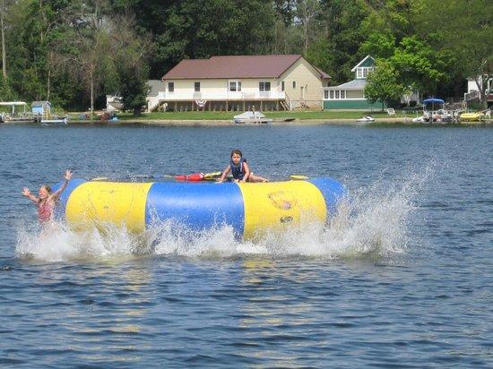 Leach Lake Cabins & Resort: 15' Water Trampoline