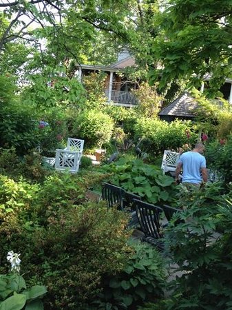 Porches on the Towpath: magical garden