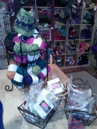The Shoppes on Main in Salado: Yarn Shop - they even offered classes.