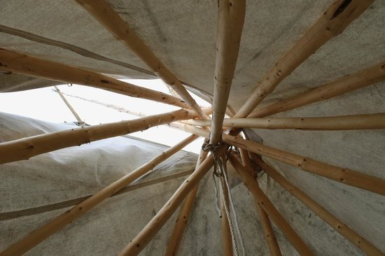Tamastslikt Cultural Institute: Ceiling of the teepee