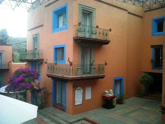 Mision Guanajuato: Muchas habitaciones cuentan con balcones.