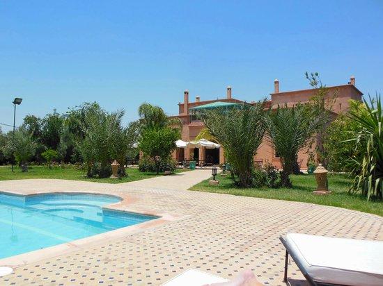 Villa Dar Mya Palmiers: piscine et villa