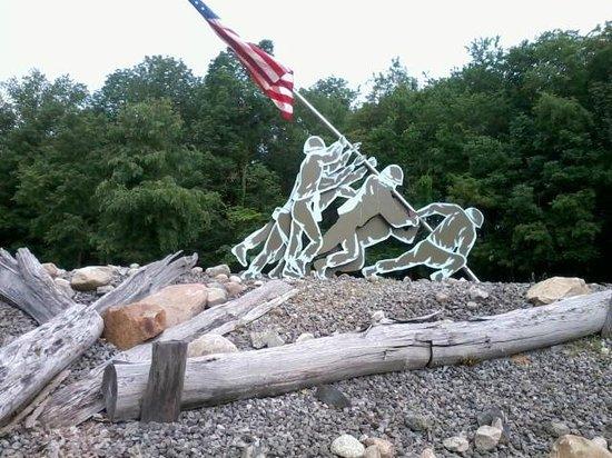 Marcellus VFW Post #4054: Metal sculpture