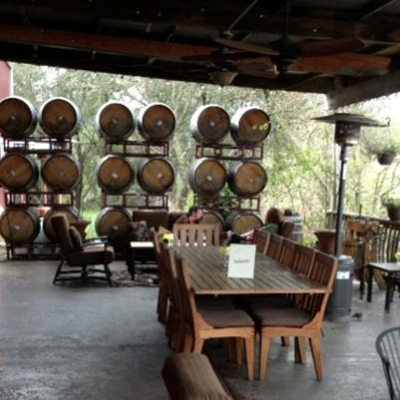 Papapietro Perry Winery: you can reserve seating on the patio