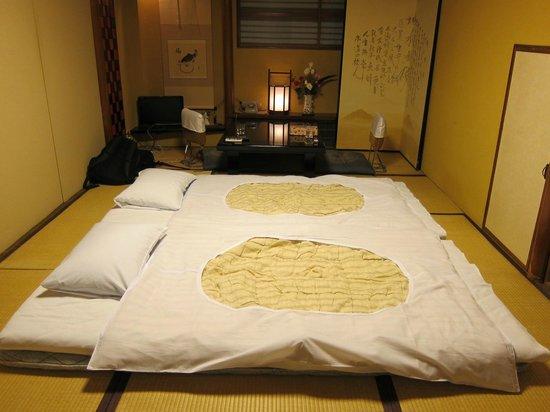 futon beds picture of kikokuso kyoto tripadvisor