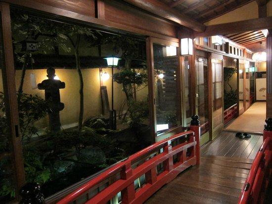 Kikokuso: garden and bridge