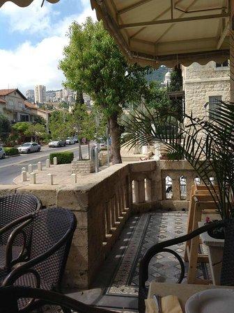 The Colony Hotel Haifa Breakfast Balcony Overlooking Ben Gurion Street