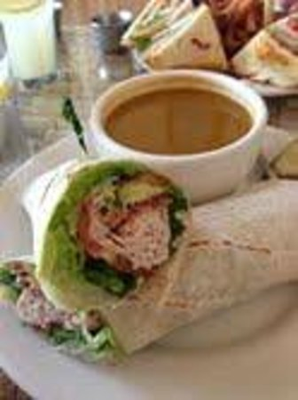 Fresco Valley Cafe: Turkey Wrap with Tomato Soup