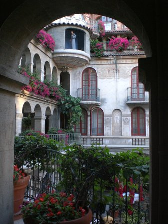 The Mission Inn Hotel and Spa: through one of the arches along a walkway