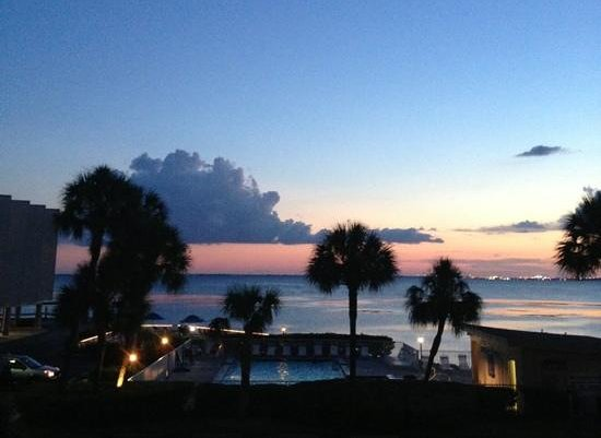 Sailport Waterfront Suites: view from our room at sunset