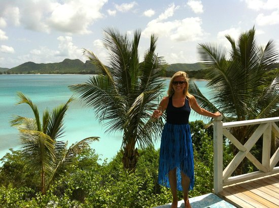 Cocobay Resort: Me on our deck.