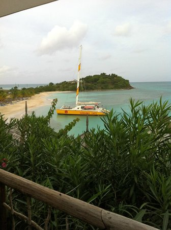 Cocobay Resort: Wadadli Cats Catamaran! Awesome time! View from breakfast spot
