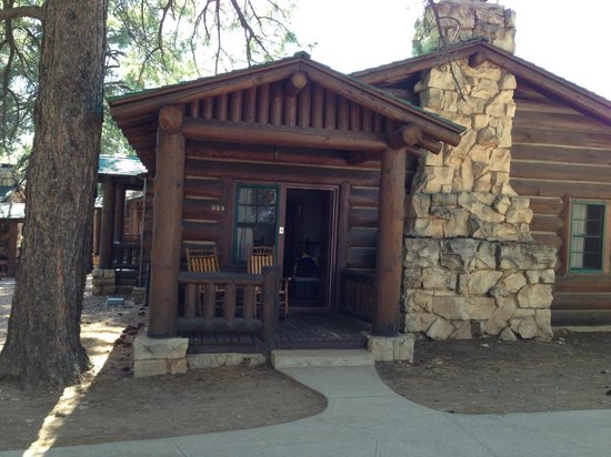 大峽谷北緣木屋照片