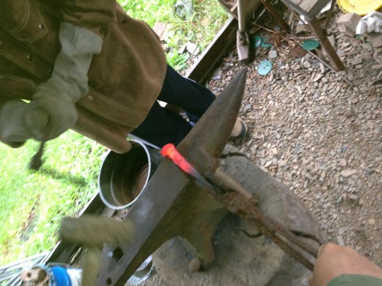 Clark Fork, ID: Creating a tomahawk from a railroad spike!