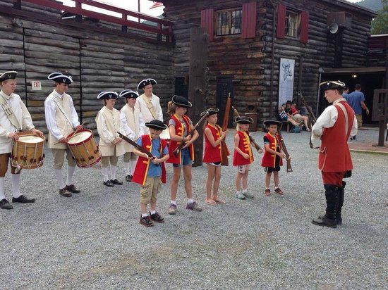 The Fort William Henry Museum & Restoration: kids get to join in!