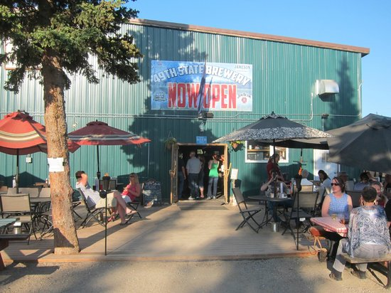 49th State Brewing Co: Outside in the bier garten