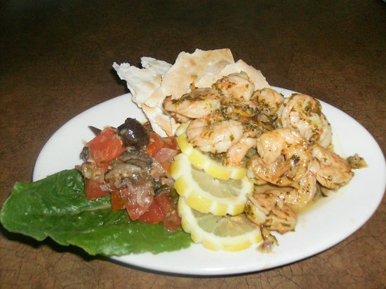 Caspian Cafe Mediterranean: Pesto Shrimp