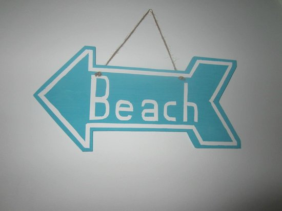 Inn at Grace Bay: Beach sign