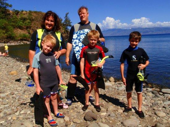 Maui Snorkel Tours: Family with Maui Snorkel Tour