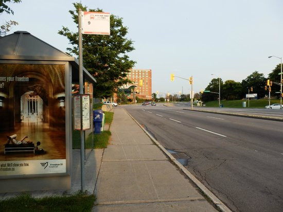 Hampton Inn by Hilton Ottawa: The bus to downtown Ottawa Line 9