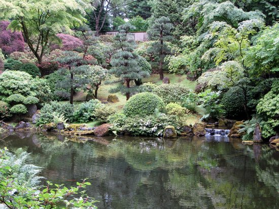 Colors of fall japanese garden in portland picture of for Japanese garden colors