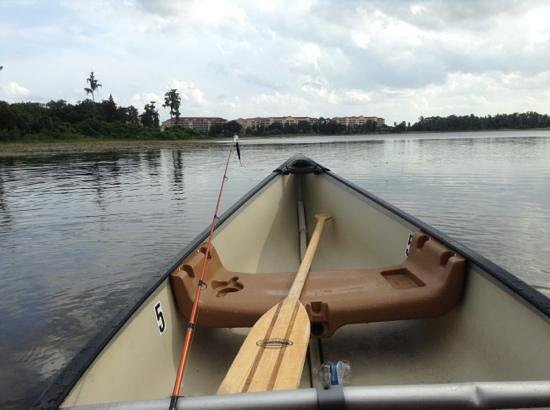 Grand Lake Resort : fishing from the canoe
