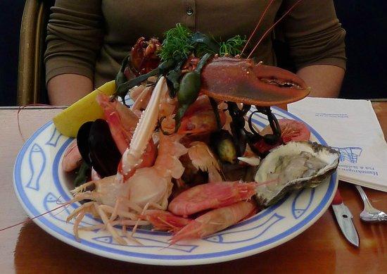 Seafood platter at Hamnkrogen Torekov