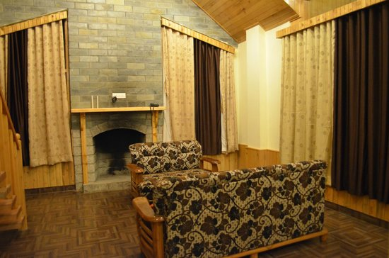 Gezellig Inn - Tree Hill Cottages and Kanyal Villas: Fire Place