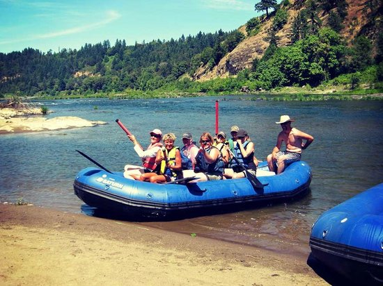 The Big K Guest Ranch and Outfitters: Rafting on the River