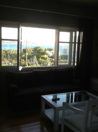 Stagones Luxury Villas : View from the Sitting Room Window