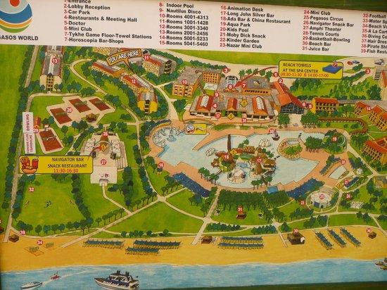 Pegasos World Hotel: plan