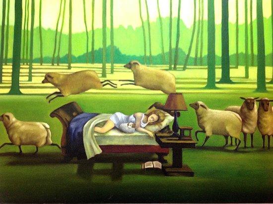 Yuanyangxuan: 睡美羊(民宿油畫)